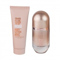 212 VIP Rose Eau de Parfum 50ml + Body Lotion 75ml