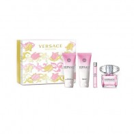 Versace Bright Crystal Eau de Toilette 90ml + Shower Gel 100ml + Shimmmering Body Lotion 100ml + Eau de Toilette Rollerball 10ml